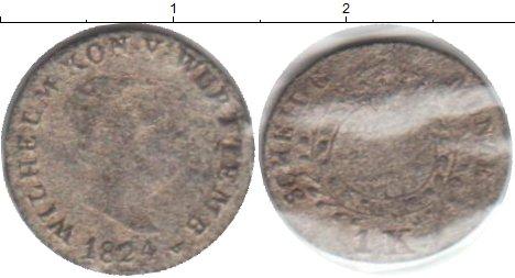 Картинка Монеты Вюртемберг 1 крейцер Серебро 1824