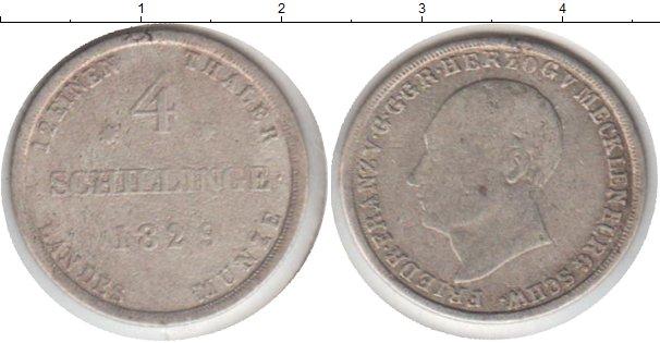Картинка Монеты Мекленбург-Шверин 4 шиллинга Серебро 1829