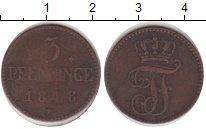 Изображение Монеты Мекленбург-Шверин 3 пфеннига 1848 Медь