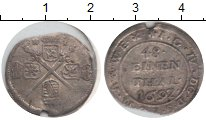 Изображение Монеты Германия Саксония 1/48 талера 1692 Серебро XF