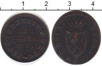 Изображение Монеты Нассау 1 крейцер 1856 Медь