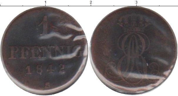 Картинка Монеты Ганновер 1 пфенниг Медь 1842