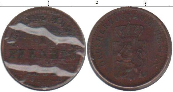 Картинка Монеты Гессен-Дармштадт 1 пфенниг Медь 1862