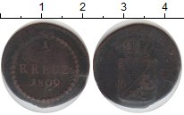 Изображение Монеты Германия Баден 1/2 крейцера 1809 Медь VF
