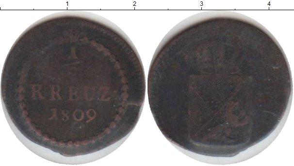Картинка Монеты Баден 1/2 крейцера Медь 1809