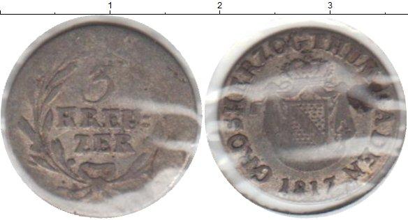 Картинка Монеты Баден 3 крейцера Серебро 1817