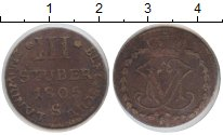 Изображение Монеты Берг 3 стюбера 1805 Серебро  S
