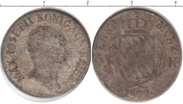 Картинка Монеты Бавария 6 крейцеров Серебро 1809