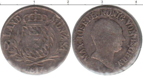 Картинка Монеты Бавария 6 крейцеров Серебро 1817