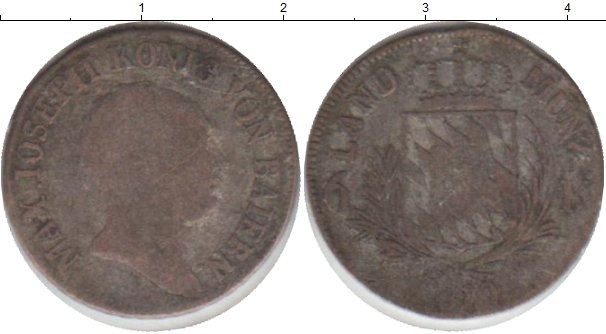 Картинка Монеты Бавария 6 крейцеров Серебро 0