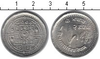 Изображение Мелочь Непал 2 рупии 1981 Медно-никель UNC