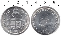Изображение Монеты Ватикан 1000 лир 1984 Серебро UNC Международный год ми