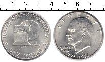 Изображение Мелочь США 1 доллар 1976 Серебро UNC