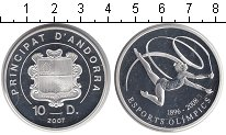 Изображение Монеты Андорра 10 динерс 2007 Серебро Proof Олимпиада