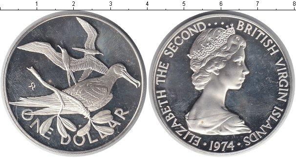 Картинка Монеты Виргинские острова 1 доллар Серебро 1974