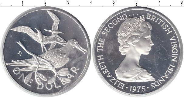 Картинка Монеты Виргинские острова 1 доллар Серебро 1975