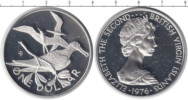 Картинка Монеты Виргинские острова 1 доллар Серебро 1976