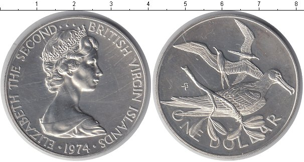 Картинка Монеты Виргинские острова 1 доллар  1974