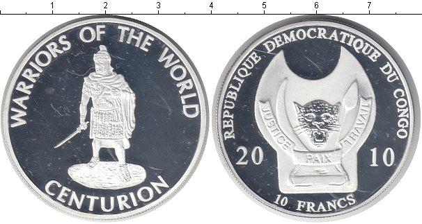 Картинка Монеты Конго 10 франков Посеребрение 2010