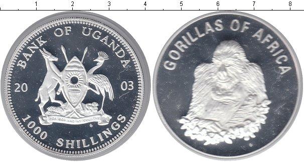 Картинка Монеты Уганда 1.000 шиллингов Посеребрение 2003