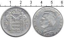 Изображение Монеты Монако 5 франков 1960 Серебро  Ренье III. KM# 141