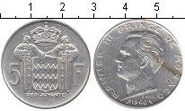 Изображение Монеты Монако 5 франков 1966 Серебро  Ренье III. KM# 141