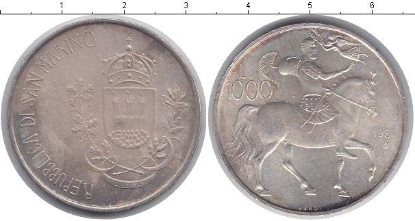 Картинка Монеты Сан-Марино 1.000 лир Серебро 1981