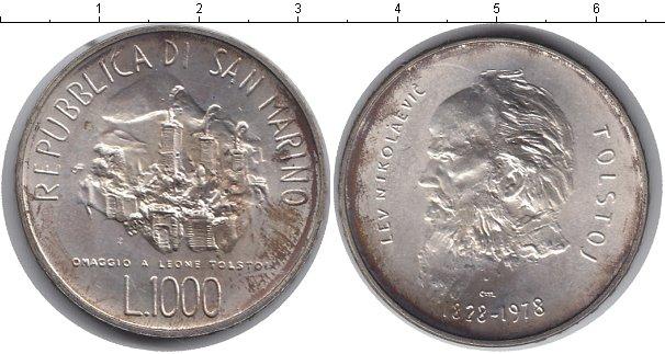 Картинка Монеты Сан-Марино 1.000 лир  1978