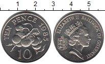 Изображение Мелочь Гернси 10 пенсов 1985 Медно-никель UNC- Елизавета II