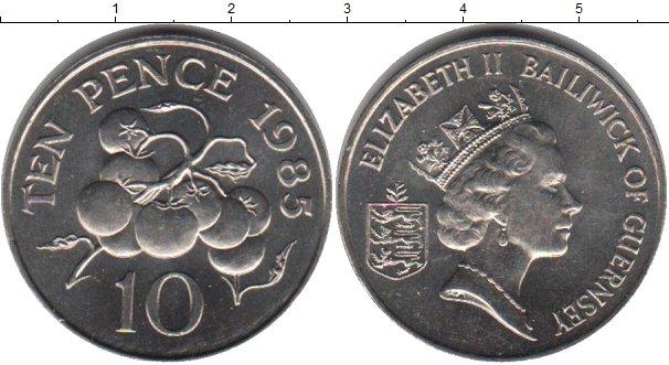 Картинка Мелочь Гернси 10 пенсов Медно-никель 1985