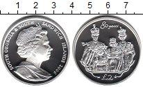 Изображение Монеты Сендвичевы острова 2 фунта 2006 Серебро Proof 80-летие Елизаветы I