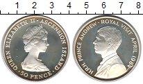 Изображение Монеты Аскенсион 50 пенсов 1984 Серебро Proof- Елизавета II