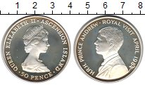 Изображение Монеты Великобритания Аскенсион 50 пенсов 1984 Серебро Proof-