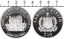 Изображение Монеты Самоа 10 тала 1994 Серебро Proof Замок Гламис, где пр