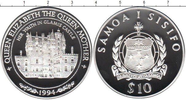 Картинка Монеты Самоа 10 тала Серебро 1994