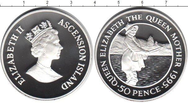 Картинка Монеты Остров Вознесения 50 пенсов Серебро 1995