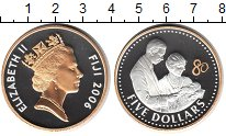 Изображение Монеты Фиджи 5 долларов 2006 Серебро Proof- Елизавета II
