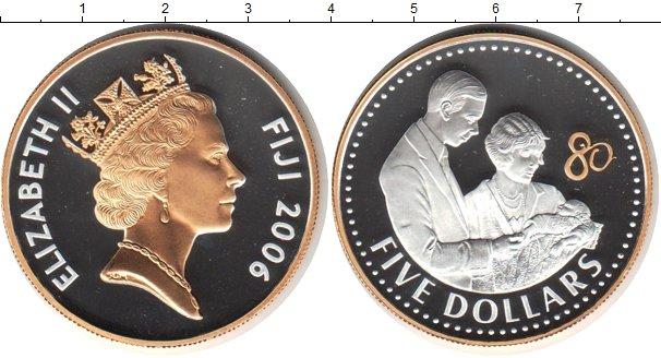 Картинка Монеты Фиджи 5 долларов Серебро 2006