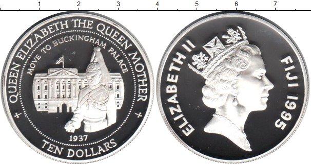 Картинка Монеты Фиджи 10 долларов Серебро 1995