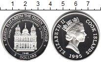 Изображение Монеты Острова Кука 5 долларов 1995 Серебро Proof Серебрянная годовщин