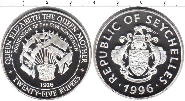 Картинка Монеты Сейшелы 25 рупий Серебро 1996