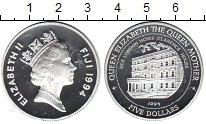 Изображение Монеты Фиджи 5 долларов 1994 Серебро Proof
