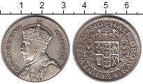 Изображение Мелочь Новая Зеландия 1/2 кроны 1934 Серебро XF