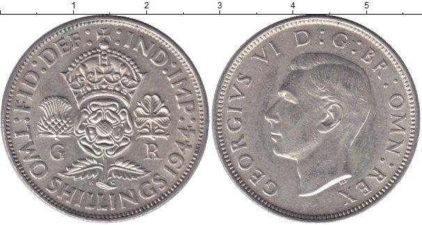 Картинка Мелочь Великобритания 2 шиллинга Серебро 1945