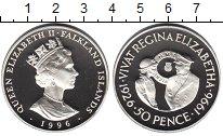Изображение Монеты Фолклендские острова 50 пенсов 1996 Серебро Proof-
