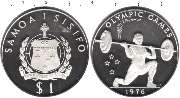 Картинка Монеты Самоа 1 тала Серебро 1976