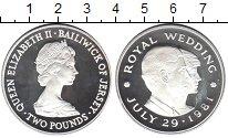 Изображение Монеты Остров Джерси 2 фунта 1981 Серебро Proof- Елизавета II
