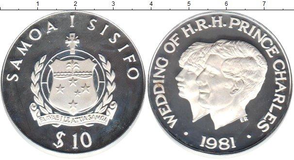 Картинка Монеты Самоа 10 долларов Серебро 1981