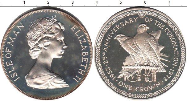 Картинка Монеты Остров Мэн 1 крона Серебро 1978