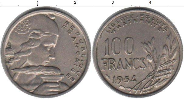 Картинка Мелочь Франция 100 франков Медно-никель 1954